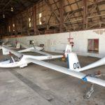 In the big hangar